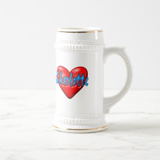 I love Charlotte Beer Stein