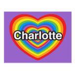 I love Charlotte. I love you Charlotte. Heart Postcard