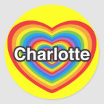 I love Charlotte. I love you Charlotte. Heart Sticker