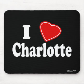 I Love Charlotte Mouse Pad