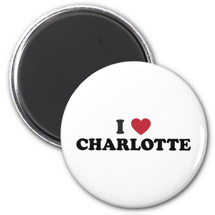 I Love Charlotte North Carolina 2 Inch Round Magnet