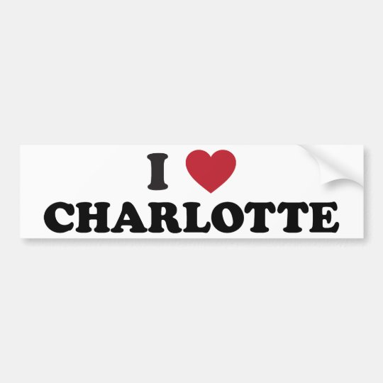 I Love Charlotte North Carolina Bumper Sticker