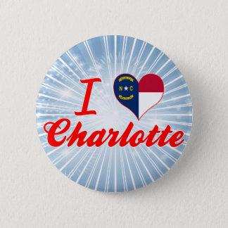 I Love Charlotte, North Carolina Button