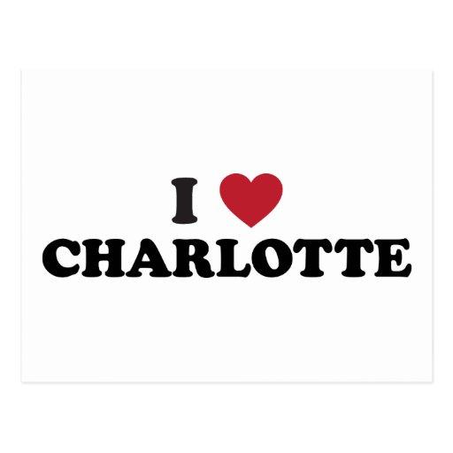 I Love Charlotte North Carolina Postcard