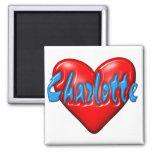 I love Charlotte Refrigerator Magnet