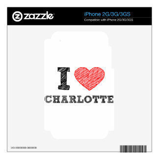 I Love Charlotte Skins For iPhone 2G