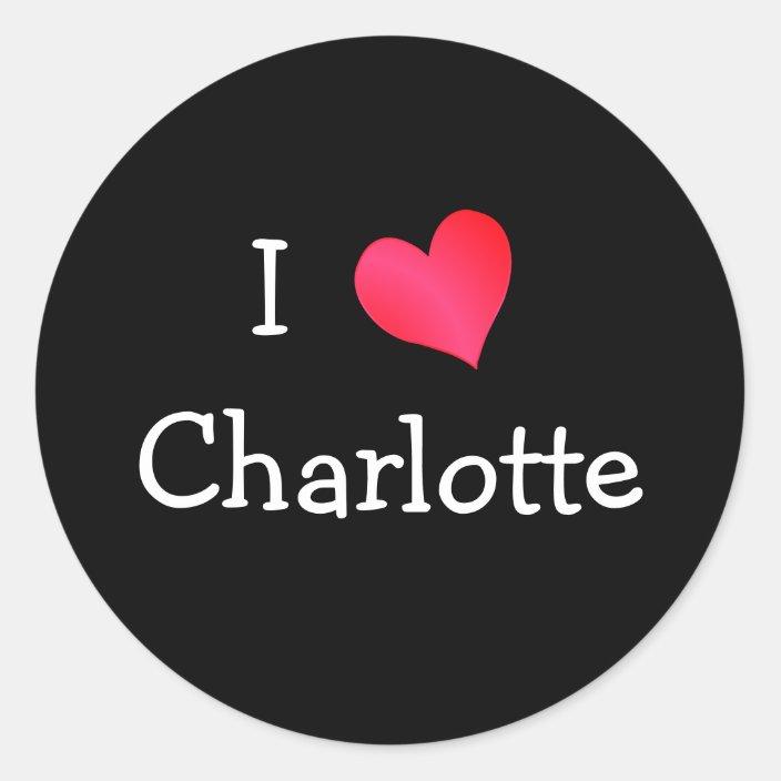 I LOVE CHARLOTTE vinyl bumper sticker decal heart gift