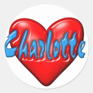 I love Charlotte Round Sticker