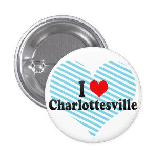 I Love Charlottesville, United States Pinback Button