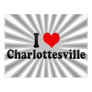 I Love Charlottesville, United States Postcard