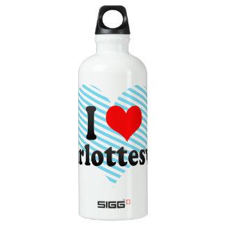 I Love Charlottesville, United States Water Bottle