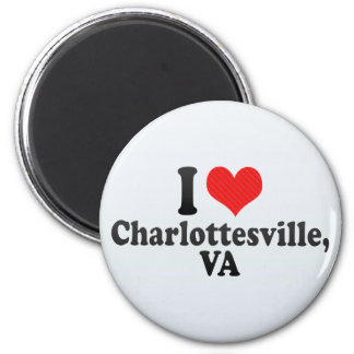 I Love Charlottesville,+VA 2 Inch Round Magnet