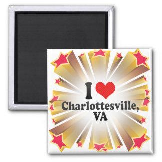 I Love Charlottesville +VA Fridge Magnets