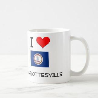 I Love Charlottesville Virginia Coffee Mugs