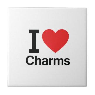 I Love Charms Ceramic Tile