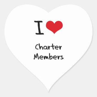 I love Charter Members Stickers
