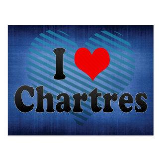 I Love Chartres, France Postcard