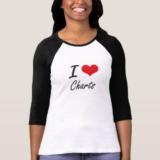 I love Charts Artistic Design Tee Shirts