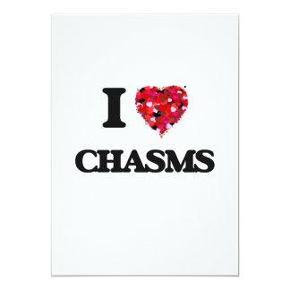 I love Chasms 5x7 Paper Invitation Card