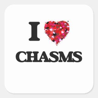 I love Chasms Square Sticker
