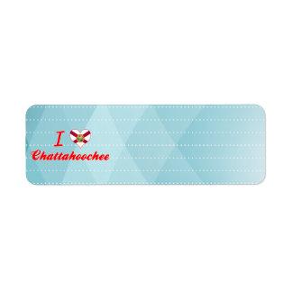 I Love Chattahoochee, Florida Custom Return Address Labels