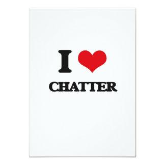 I love Chatter 5x7 Paper Invitation Card