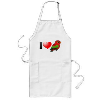 I Love Chattering Lories Long Apron