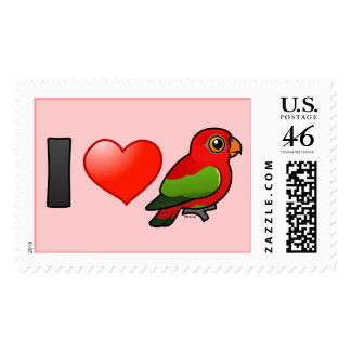 I Love Chattering Lories Stamp