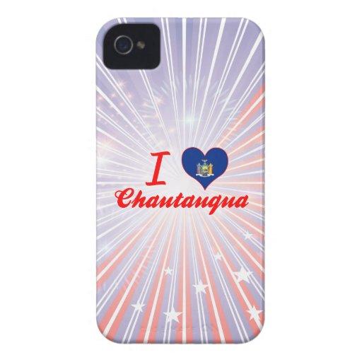 I Love Chautauqua, New York iPhone 4 Case-Mate Cases