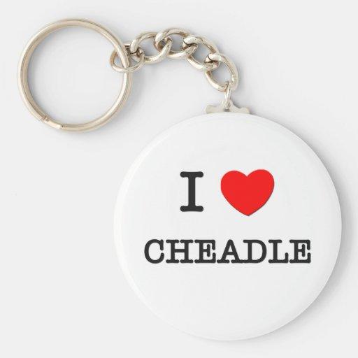 I Love Cheadle Basic Round Button Keychain