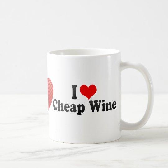 I Love Cheap Wine Coffee Mug
