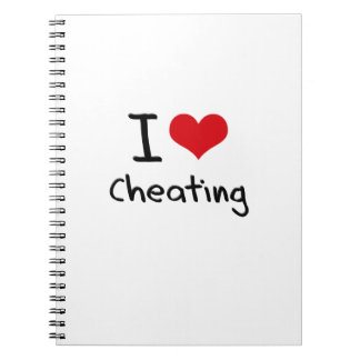 I love Cheating Spiral Notebooks