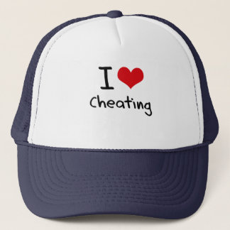 I love Cheating Trucker Hat