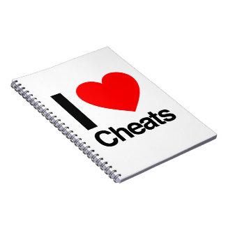 i love cheats spiral notebooks