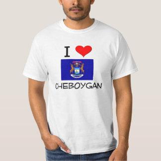 I Love Cheboygan Michigan T Shirt