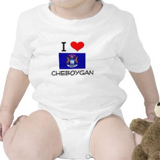 I Love Cheboygan Michigan Bodysuits