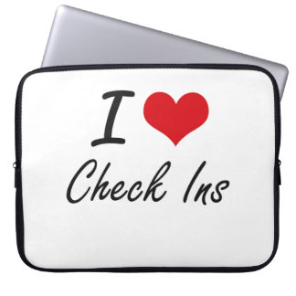I love Check Ins Artistic Design Laptop Sleeves