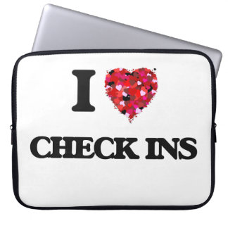 I love Check Ins Laptop Computer Sleeves
