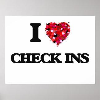 I love Check Ins Poster