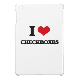 I love Checkboxes iPad Mini Cases