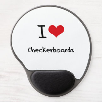 I love Checkerboards Gel Mouse Pad