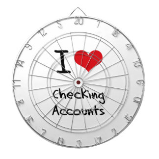 I love Checking Accounts Dartboard With Darts