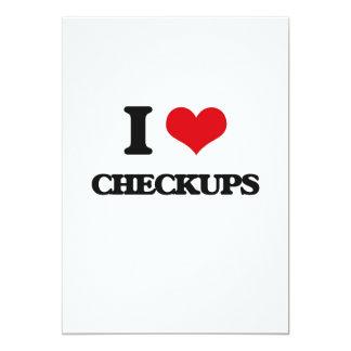 "I love Checkups 5"" X 7"" Invitation Card"
