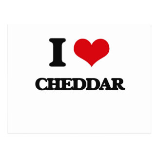 I love Cheddar Postcard