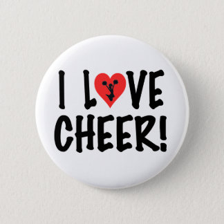 I Love Cheer! Pinback Button