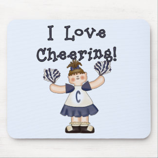 I Love Cheering Blue Tshirts and Gifts Mouse Pad
