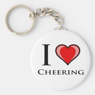 I Love Cheering Keychain