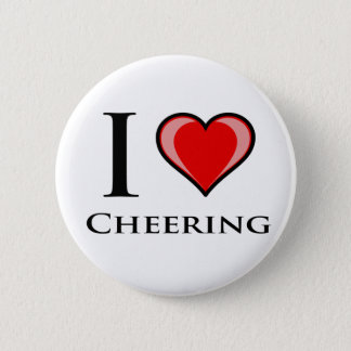 I Love Cheering Pinback Button