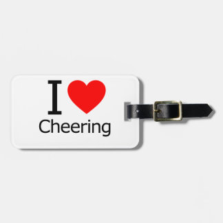 I Love Cheering Tag For Luggage