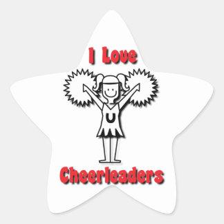 I Love Cheerleaders Stickers